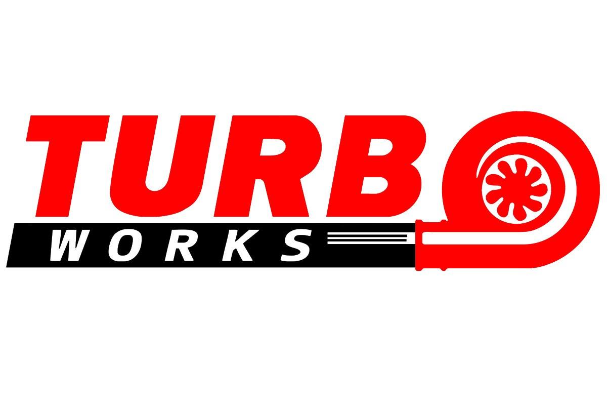 Naklejka TurboWorks Czerwono-Czarna - GRUBYGARAGE - Sklep Tuningowy
